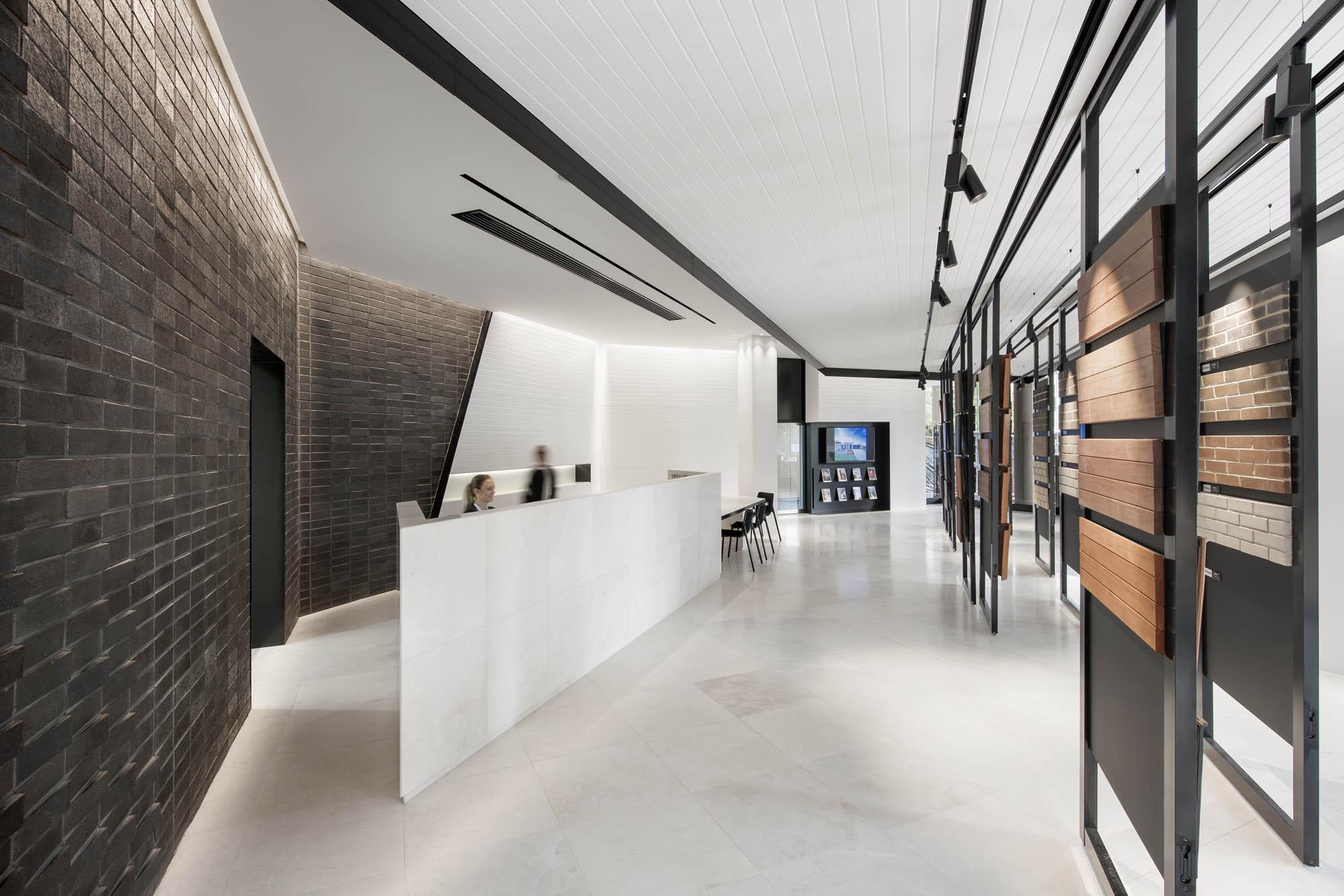 carousel brickwork design austral brick studio adelaide fitout construction reception retail sliding display