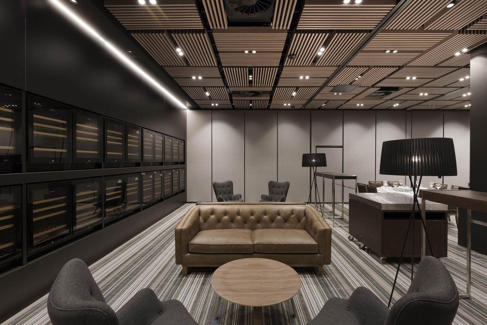 Golden Century Restaurant Fitout waiting feature ceiling lounge