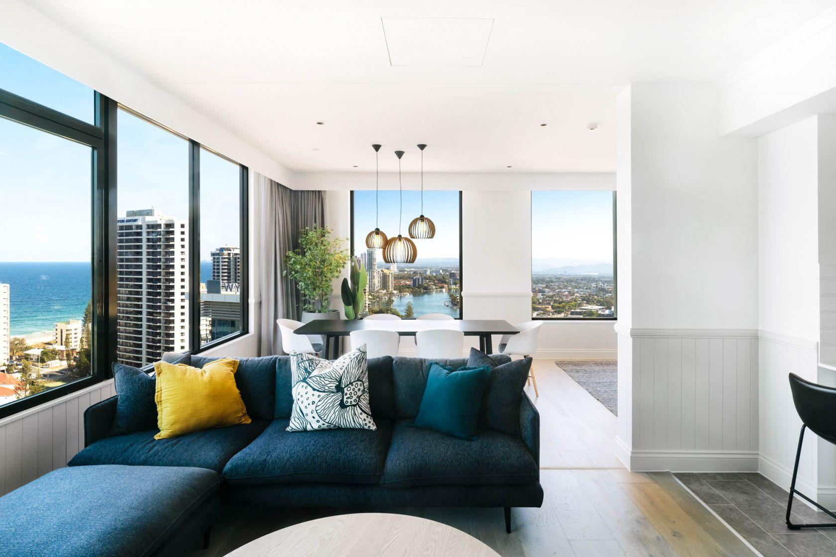 voco hotel gold coast fitout refurbishment construction executive suite lounge