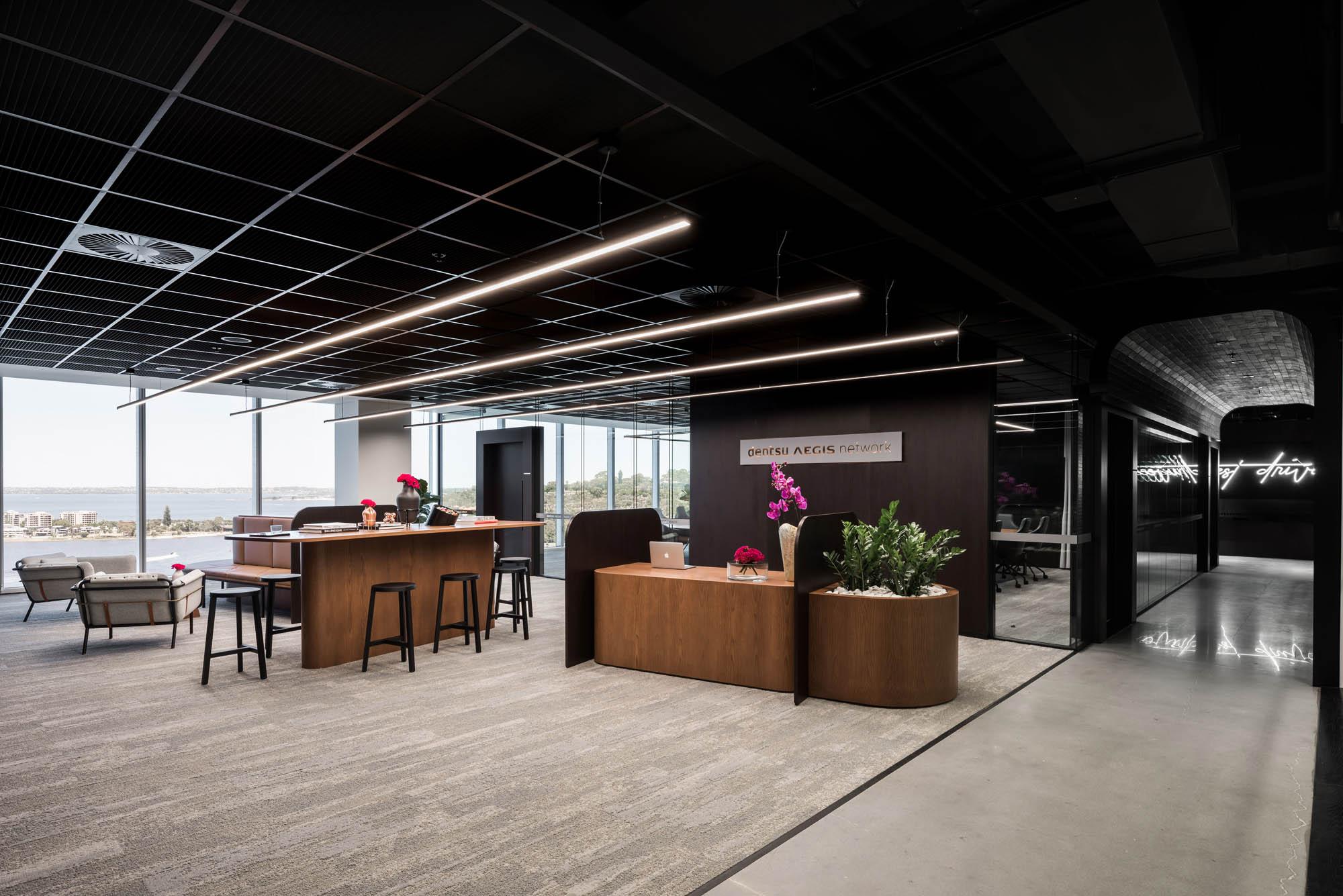 reception desk in dentsu aegis network perth office