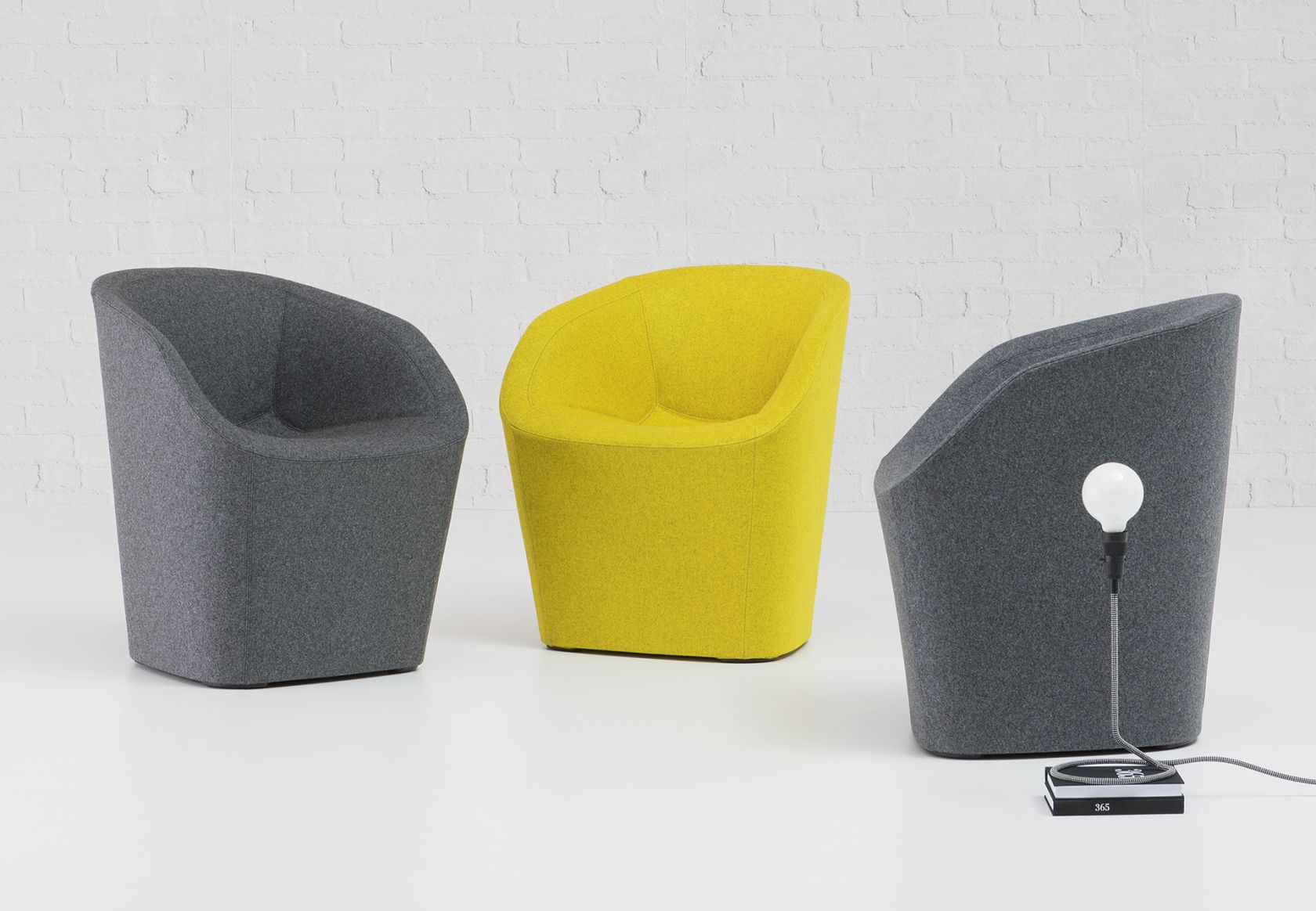 Blom Chair yellow and grey