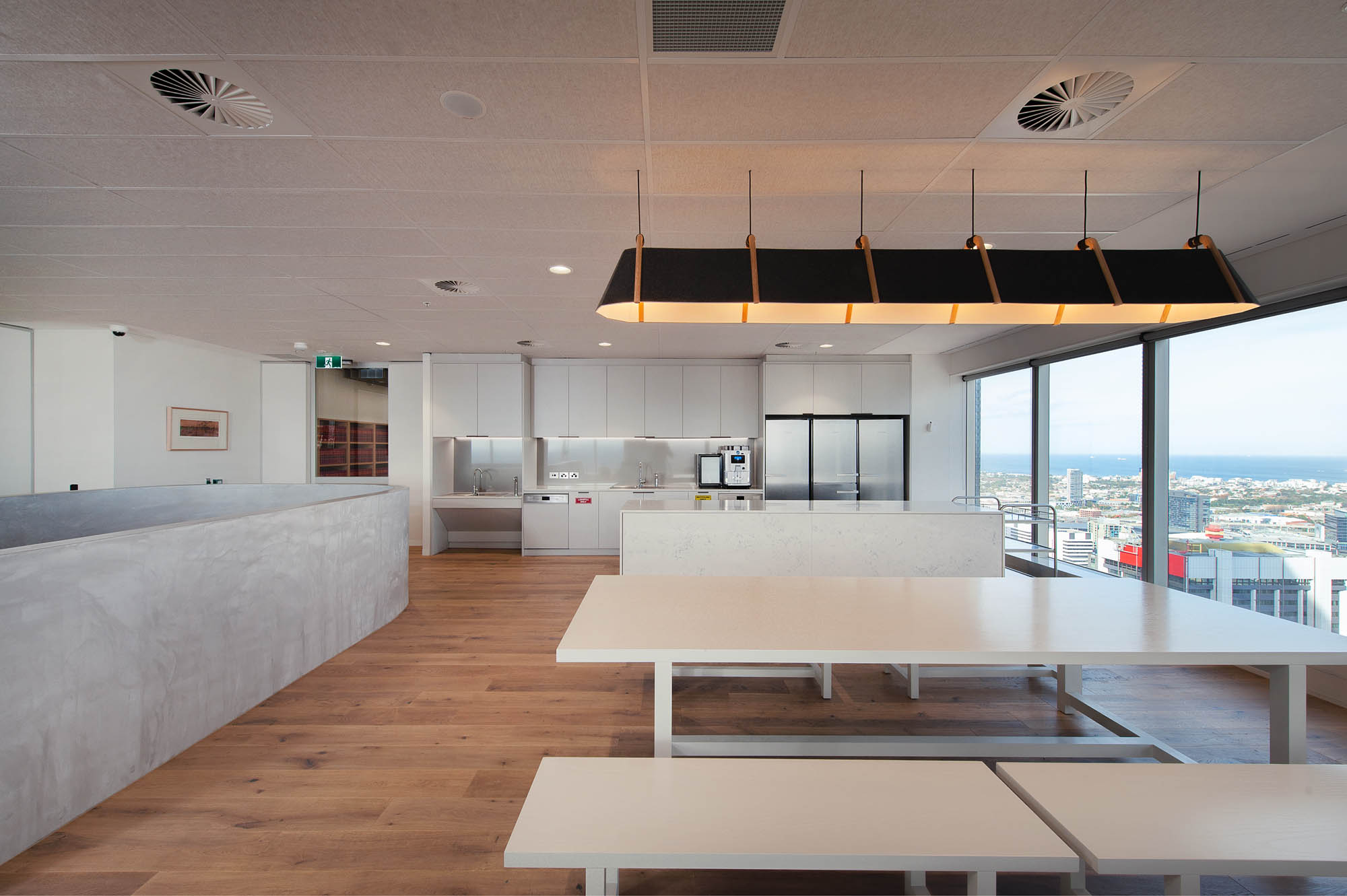 australian government solicitor melbourne office featuring breakout kitchen area