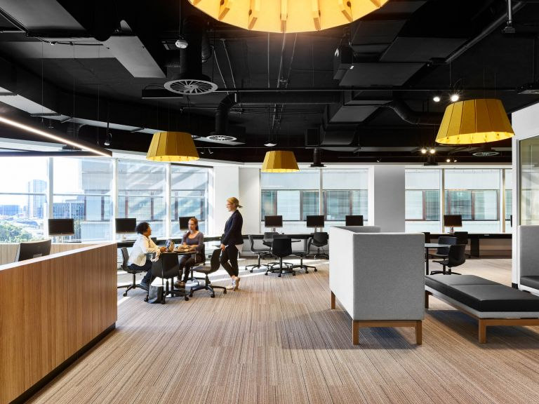interior fitout federation university australia campus brisbane workstations and teacher office